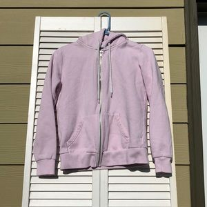 Adorable pastel pink zip up hoodie